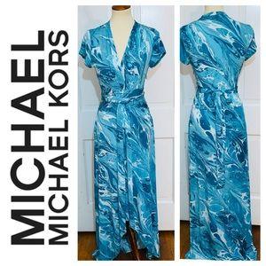 MICHAEL Michael Kors Watercolor Maxi Dress. Size 8